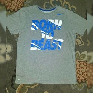 "NIKE Authentic ""Born To Beast"" DRI-FIT Graphic Tee"